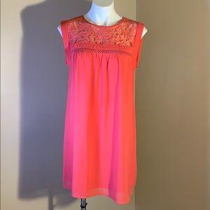 Pink/orange sleeveless dress